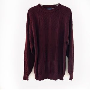 Vintage Towncraft Men Crewneck Maroon Sweater LT